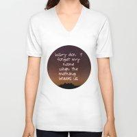 twilight V-neck T-shirts featuring Twilight by Monika Strigel
