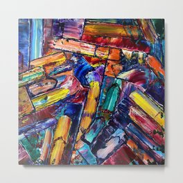 Letter to a Friend; Rants, Raves, Loves, Secrets, and Random Thoughts, modern colorful abstract painting Metal Print