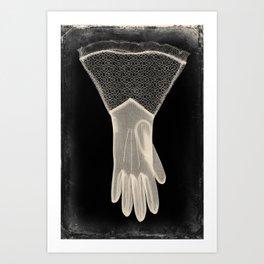 X-Ray of Vintage Glove Art Print