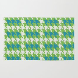 Where is the reindeer of Santa?_M  Lgray&Lime Rug