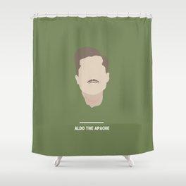 ALDO THE APACHE (Inglourious Basterds) Shower Curtain