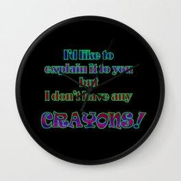 Funny One-Line Crayon Joke Wall Clock