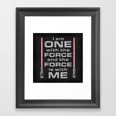 Force is with Me - Red&Black Framed Art Print