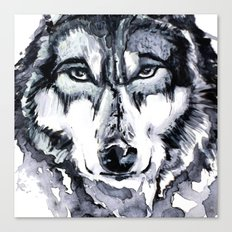 Abstract Wolf - Zoomed Canvas Print