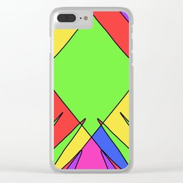 Jagged Edges Clear iPhone Case
