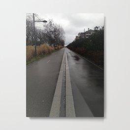 the road of life urban Paris Metal Print