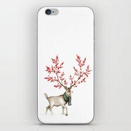Rudolph the Winterberry Antler'd Reindeer iPhone Skin