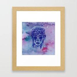 "Troye Sivan ""Youth"" Pen Watercolor Drawing Framed Art Print"