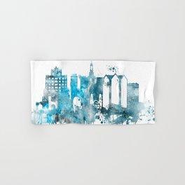 San Jose Monochrome Blue Skyline Hand & Bath Towel