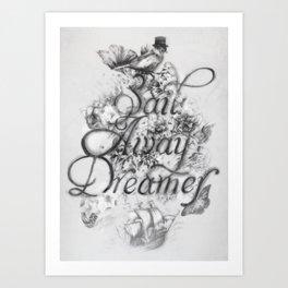 Sail Away Dreamer Art Print