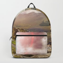 Ireland Mountain Landscape Panorama Backpack
