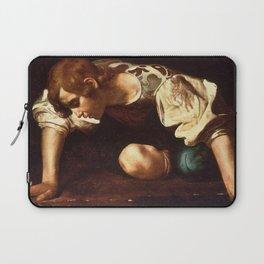 """Michelangelo Merisi da Caravaggio """"Narcissus"""" Laptop Sleeve"""