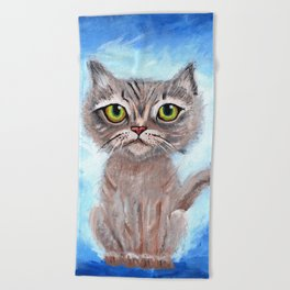 Kitty Kitty Beach Towel
