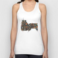 cities Tank Tops featuring Twin Cities by BigRedSharks