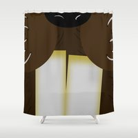 beaver Shower Curtains featuring Mr. Beaver by MadeByJenni