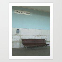 Lisboa: Santa Apolonia Art Print