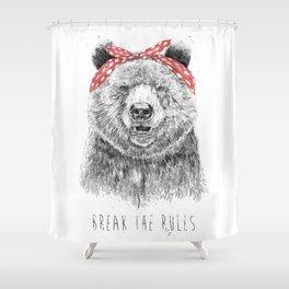 Break the rules Shower Curtain