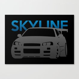 Nissan Skyline GT-R  Canvas Print