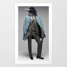 dapper crow Art Print