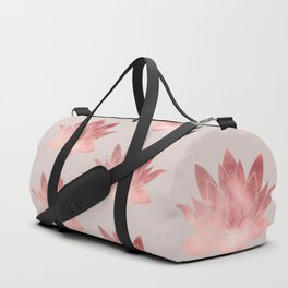 Pink Lotus Flower | Watercolor Texture Duffle Bag