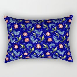 Australian Native Floral Pattern - Bright and Cute Rectangular Pillow