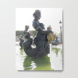 Mermaid in Paris Metal Print