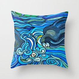 HIGH WATER Throw Pillow
