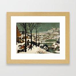 The Hunters in the Snow - Pieter Bruegel the Elder Framed Art Print