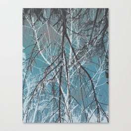 The Snowy Tree Series-grey blue Canvas Print