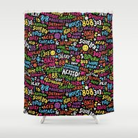 acid Shower Curtains featuring Acid! by Barney Ibbotson