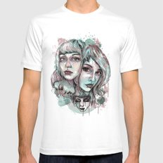 Faces and Color MEDIUM Mens Fitted Tee White