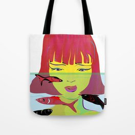 """""""Redhead Worry"""" Paulette Lust's Original, Contemporary, Whimsical, Colorful Art Tote Bag"""