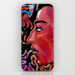 Red Face iPhone Skin