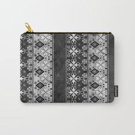 Ethnic black and gray ornament . Grunge . Carry-All Pouch