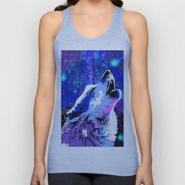WOLF MOON AND SHOOTING STARS Unisex Tank Top