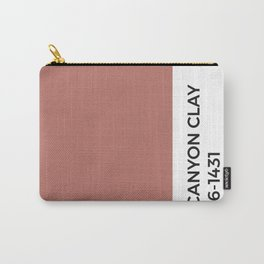 Canyon Clay • Pantone Swatch • Paint Chip • Warm Tones • Hues Carry-All Pouch