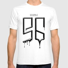 S6 TEE BLACK PAINT White SMALL Mens Fitted Tee