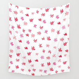 Red Stars Wall Tapestry