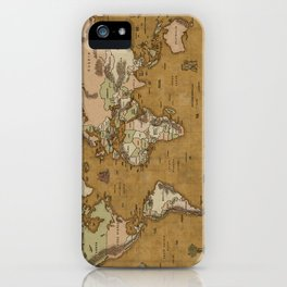 World Treasure Map iPhone Case
