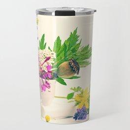 wild herbs still life, discreet design from nature Travel Mug