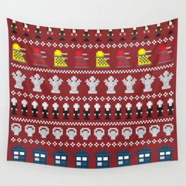 Doctor Who - Time of The Doctor - 8 bit Christmas Special Wall Tapestry