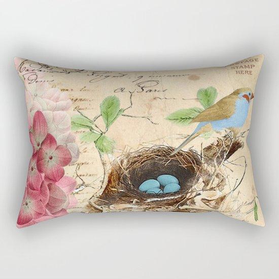Vintage flower #15 Rectangular Pillow