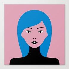 Blue Hair Girl Canvas Print