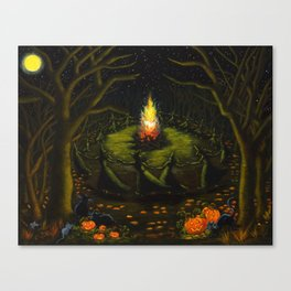 Halloween Bonfire Canvas Print