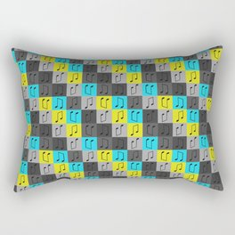 Musical repeating pattern No.4, Collection No.1 Rectangular Pillow