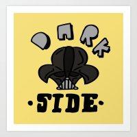 dark side Art Prints featuring dark side by benjamin chaubard