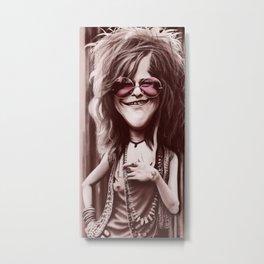 Caricature of J.Joplin Metal Print