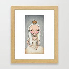 White Queen - Alice in Wonderland Framed Art Print
