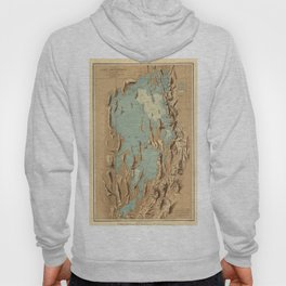 Map Of Lake Bonneville 1900 Hoody