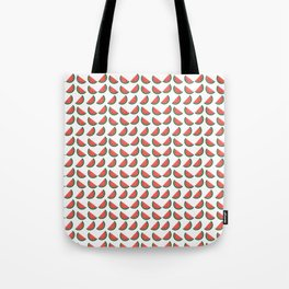 Pink Green Watermelon Slice with Seeds Tote Bag
